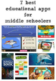 7 best educational apps for middle schoolers via Tween Us blog