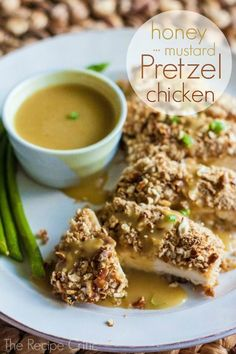 Honey Mustard Pretzel Chicken: I'm always looking for ways to dress up chicken breasts.  This one looks likes a winner!
