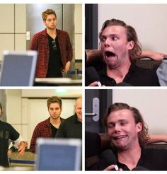 Ash is me cause I'm a Luke girl so I do this constantly  by the way there needs to be a fangirl emoji