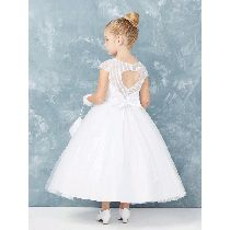 Shop New First Communion Dresses for 2019 on sale. Popular Girls First Holy Communion Dresses offered in a variety of sizes, lengths. Shop 2019 First Communion Dresses on Sale at Christian Expressions Girls First Communion Dresses, Holy Communion Dresses, First Holy Communion, Size 14 Dresses, Dresses For Sale, Ball Gown Dresses, Our Girl, Lace Sleeves, Lace Applique
