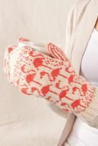 Flamingo Mittens from Knit Picks designers - Super knitting Crochet Mittens, Fingerless Mittens, Crochet Gloves, Knit Crochet, Crochet Granny, Knitted Mittens Pattern, Yarn Projects, Knitting Projects, Knitting Tutorials