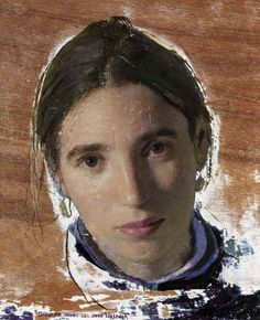 "Golucho, ""Luminta""   óleo sobre tabla    29,5 x 24,2 cm   otoño del 2008"