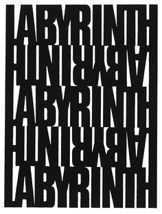 """visual-poetry: """" »labyrinth« by heinz gappmayr (+) """""""
