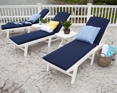 polywood stackable nautical chaise lounge
