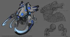 Blizzard's MOBA throws all the company's famous properties into the one game, which means the artists tasked with imagining Heroes of the Storm's look got to have some fun smashing everything together. Robot Concept Art, Creature Concept Art, Game Concept Art, Creature Design, Character Sketches, Character Concept, Character Design, Drones, Starcraft 2
