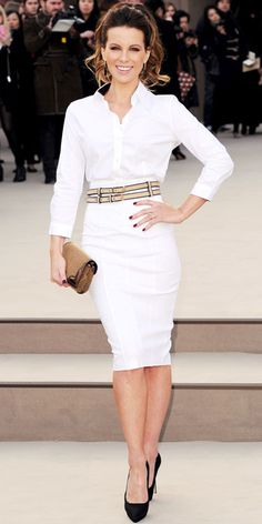 Kate Beckinsale in Burberry