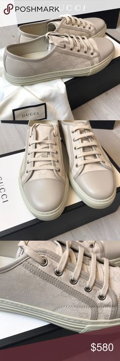 5cd8301834e Authentic Gucci Men s Sneakers Size New with tags and comes with dust bag