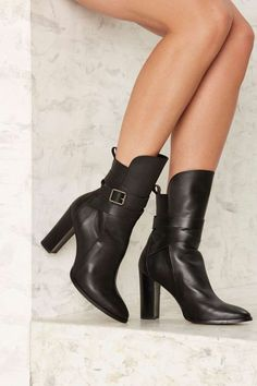 Shellys London Deandra Belted Leather Boot - Shoes | Boots + Booties