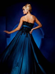 Awesome royal blue and black dresses 2018