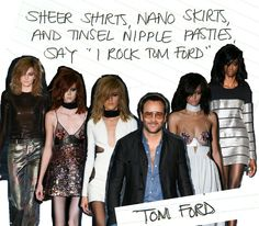 Haiku-se us, we're jumping on the tinsel nipple train. #IRockTomFord http://www.thecoveteur.com/london-fashion-week-spring-2015/