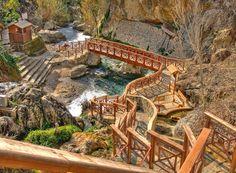 Piscina natural de Fuentes del Algar (Alicante, España)