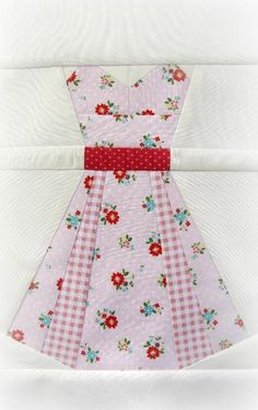 Quilting: Vintage Dresses, a paper piecing pattern