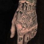 Tattoo Chicano Lettering