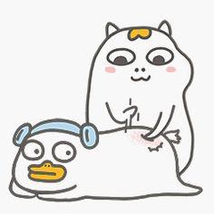 微博 Funny Duck, Little Duck, Duck Duck, Kawaii Art, Cute Art, Avatar, Haha, Childhood, Sketch