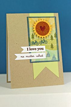 I Love You Card by Erin Lincoln for Papertrey Ink (September 2013)
