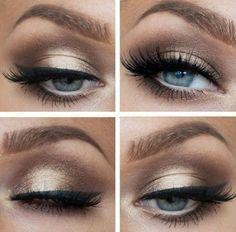 Blue dress eye makeup liner