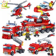 Auto Replacement Parts: Promo Offer Fire Fighting car Helicopter boat Building Blocks Compatible LegoING city Firefighter figures trucks Bricks children Toys Boat Building, Model Building, Building Toys, Toddler Toys, Kids Toys, Carpentry Skills, Build Your Own Boat, Small Boats, Toddler Girls