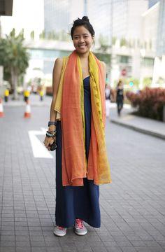 Blueprint Singapore: Indian Scarves | Street Fashion | Street Peeper