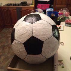 Make your own soccer ball piñata