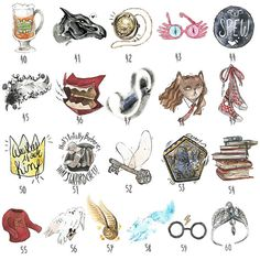 Build your own Harry Potter themed sticker pack Classe Harry Potter, Harry Potter Thema, Harry Potter Room, Harry Potter Anime, Harry Potter Fandom, Harry Potter World, Harry Potter Drawings, Harry Potter Tattoos, Harry Potter Potion Labels