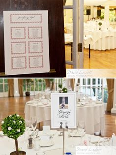 Dotty Table plan and photo table markers