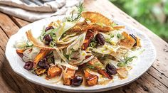 Orange-Glazed Sweet Potato with Fennel and Pita Recipe from Karen Martini