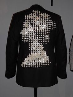 pearly queen jacket. Made by Nutters of Saville Row for Simon Waterfall, when he met the Queen. Perfectly executed.
