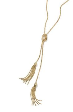 The perfect necklace for an evening out, this tassel-trimmed necklace is made with a lariat design and elegantly twisted chains. Find it at the Nordstrom Anniversary Sale!