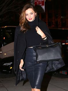 Star Tracks: Monday, February 3, 2014 | In the Trenches | Miranda Kerr keeps it chic and understated in an all-black ensemble while stepping out in N.Y.C. on Friday.