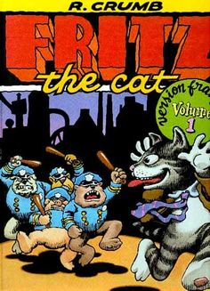 Fritz The Cat 1972 French edition Robert Crumb, Fritz The Cat, Linear Art, Alternative Comics, Bd Comics, Retro Illustration, Lectures, Underground Comics, Comic Covers