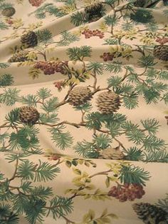 #Cabin Interiors & Decor ... #log cabin #fabric