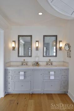 2013 Bath of the Year Winner designed by Lisa Inns of Grey Coast Design  #bathroom #hisandhers