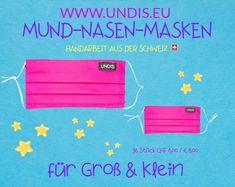 UNDIS Mund-Nase-Masken Unsere Masken für CHF 6.00 / EURO 6.00 aus Baumwolle sind bis 60° waschbar. Das Futter auf der Innenseite, dient als eine zweite Schicht und ist angenehm beim Tragen. Mit den elastischen Ohrenschlaufen kannst du dir deine Maske selber anpassen. Wähle für dich und deine Liebsten ein Muster aus und schon bald sind deine Lieblingsmasken versandkostenfrei auf dem Weg zu dir! Viel Spaß beim Stöbern! Wir freuen uns auf deine Bestellung Bunt, Corona, Funny Mouth, Masks Kids, Men's Boxer Briefs, Great Gifts, Handarbeit, Patterns