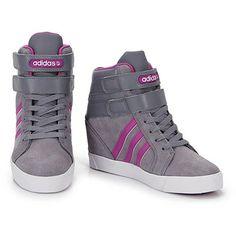 Tênis Sneaker Feminino Adidas Daily Wedge - Chumbo