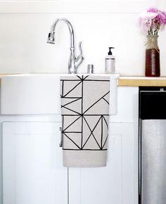 Grid Tea Towel - Cotton & Flax