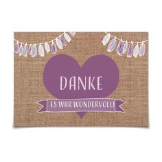 Dankeskarte Rustique in Lavendel - Postkarte flach #Hochzeit #Hochzeitskarten #Danksagung https://www.goldbek.de/hochzeit/hochzeitskarten/danksagung/dankeskarte-rustique?color=lavendel&design=07c53