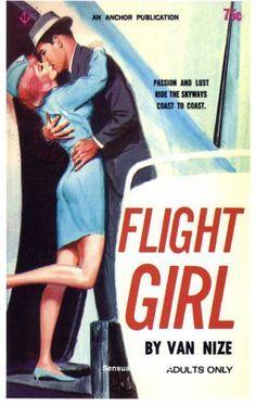 Flight Girl - Giclée Canvas Print of Vintage Pulp Paperback Pulp Fiction, Flight Girls, Flight Attendant Life, Come Fly With Me, Vintage Travel, Vintage Airline, Paperback Books, Travel Posters, Illustration