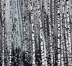 Tree Series - Barbara W. Landscape Art Quilts, Landscapes, Missouri Quilt, Tree Quilt, Quilt Art, Black And White Quilts, Reverse Applique, Applique Quilts, Tree Art