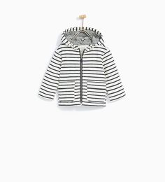 STRIPED PARKA from Zara. Baby and toddler boy clothes. 3 month - 4 year sizes.