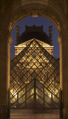 The Louvre by night, Paris, France feels really awesome to say I've actually been here and seen this! I miss Europe.
