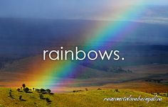 Somewhere over the rainbow, way up high...