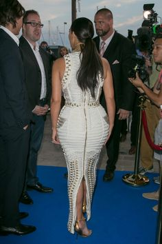Kim Kardashian em festa em Cannes, na França (Foto: Marc Piasecki/ Getty Images)