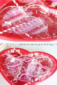 Valentine Bubble Science Activity For Preschool