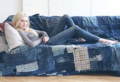 denim sofa cover