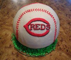 Cincinnati Reds 3D Baseball Cake By angel941985 on CakeCentral.com