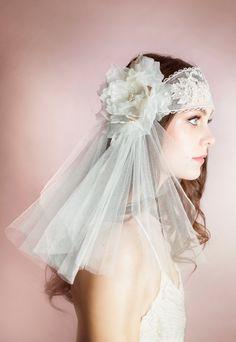 HATTIE Lace Bandeau Juliet Veil Juliet by BlairNadeauMillinery