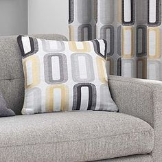 Patterned with a contemporary jacquard design featuring vibrant ochre yellow details this Elements cushion is complete with a removable cover and plump polyester filling. Dahl, Soft Furnishings, Cushions, Throw Pillows, Contemporary, Yellow, Bed, Pattern, Furniture