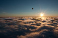 On Cloud 9 by The Burgys, via Flickr - Would love to be in that hot air balloon ;)