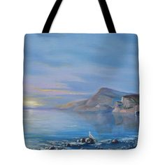 Awaiting For New Day Tote Bag for Sale by Elena Antakova Art Prints For Home, Home Art, Original Paintings For Sale, Before Sunrise, Blue Hour, Bag Sale, Painting Art, New Day, Fine Art Photography