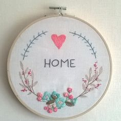 Home sweet home #monDIYamoi #broderie #embroideryhoop #embroideredflowers